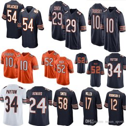 52 Khalil Mack 10 Mitchell Trubisky Bears Footbal Jersey 58 Roquan Smith  Anthony Miller Cohen 34 Payton 24 Howard 54 Urlacher 12 Robinson II e5e5d09d0