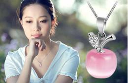$enCountryForm.capitalKeyWord Australia - 2019 Hot sales Charm Small Apple Opal Pendant Austrian crystal 925 sterling silver Necklace Pendants Women Fine Jewelry Accessories