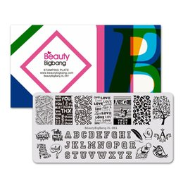 $enCountryForm.capitalKeyWord Australia - BeautyBigBang Stamping Plates English Words Tree Dog Rectangle Letters Alphabet Design Stamping Template Manicure Image Plate