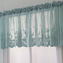 $enCountryForm.capitalKeyWord Australia - Small Curtain Like A Breath Of Fresh Air Finished Product Kitchen Tier Curtains Blue Lace Fabric Sunblind Factory Direct Selling 15mm4 p1