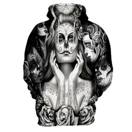 xxxxl hoodies UK - Fashion-New Fashion S-XXXXL Size Skulls Hoodies Men Women Thin Sweatshirts 3d Print Hole Skulls Hooded Hoodies