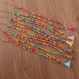 $enCountryForm.capitalKeyWord Australia - New European and American rice beads shell tassel necklace personality fashion bohemian style manufacturers production wholesale direct sale