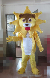 $enCountryForm.capitalKeyWord Australia - new Hot sale yellow lion Mascot Costume Girl Mascot Costume For Halloween Party Christmas