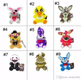 2017 Nova Chegada Cinco Noites No Freddy's 4 FNAF Brinquedos De Pelúcia 15-18 cm de Ouro Freddy foxy Bonnie Chica Macio Stuffed Dolls Caçoa o Presente brinquedo em Promoção
