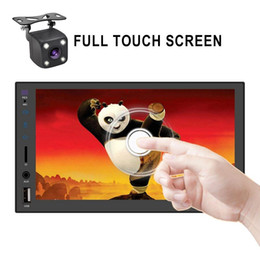 "rear touch screen Canada - 2 din car radio 7"" HD Touch Screen Player car dvd mirrorlink Android 9 Iphone MP5 SD FM MP4 USB AUX Bluetooth Car Auto Audio For Camera"