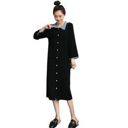 68879168622a6 2019 New Spring Autumn Pregnant Women Patchwork Causal Dress Pregnancy  Clothing For Maternity Plus Size Nursing Vestido Q722