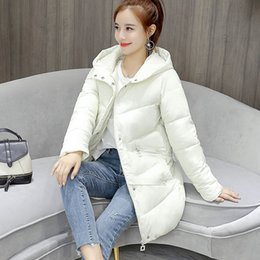 $enCountryForm.capitalKeyWord Australia - Winter Jacket Women Button Parkas Thicken Outerwear Solid Fur Hooded Coats Female Slim Long Cotton Padded Basic Tops Women Coat