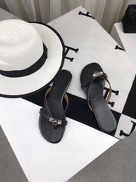 Ladies White Leather Flip Flops Australia - Luxury Classic 2019 New Summer Ladies Leather Slippers Beach Shoes Designer Brands Top Production Candy Color Flip Flops