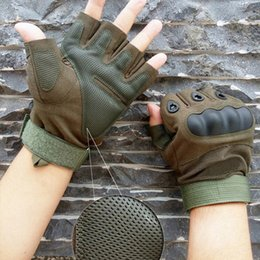 $enCountryForm.capitalKeyWord Australia - Fashion-2019 New Brand Men Gloves Tactical Army Outdoor Motorcycle Hunt Hard Knuckle Half Finger Gloves