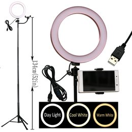 Pink youtube online shopping - 8 quot LED O Ring Light selfie Beauty for Youtube live stream salon makeup cm USB V input colors adjustable dimmable phone holder