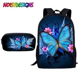 $enCountryForm.capitalKeyWord Australia - NOISYDESIGNS School Bags for Teenager Girls Boys Butterfly Printing Kids Fashion School Bag Primary Boy Cute Schoolbag