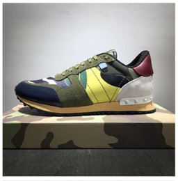 genuine leather fabric yard NZ - Big yards 46 Designer Brand sneakers colorful trainers camouflage casual shoes Men Women genuine leather Shoes Plus size 38-46