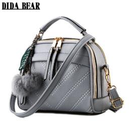$enCountryForm.capitalKeyWord Australia - Didabear Brand New Women Leather Messenger Bags Lady Cute Handbags Girls Shoulder Bag Bolsas Gray Pink Black Beige Sac A Epaule Y19061705