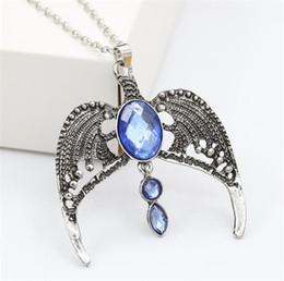 Necklaces Pendants Australia - Vintage Necklace Harry Movie Inspired Sorcerer's Stone Ravenclaw Lost Diadem Tiara Crown Horcrux Magic School Wing Pendant Jewelry K3440