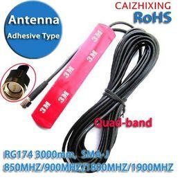 $enCountryForm.capitalKeyWord NZ - Freeshipping GSM GPRS 3G Car Antenna Patch antenna RG174 SMA Adhesive Type 2.5DBI 850MHZ 900MHZ 1800MHZ 1900MHZ 3000mm