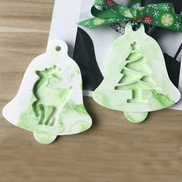 silicone cake ball NZ - Christmas Cake Mold Hanging Balls Gift Balloon 3D Silicone Fondant Decorating Tools Christmas Tree Craft Decoration