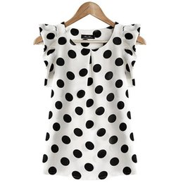 $enCountryForm.capitalKeyWord UK - Shirt Wave Point Will Code Woman Short Sleeve Chiffon Jacket Self-cultivation Lotus Leaf Edge Butterfly Sleeveless Chiffon Shirt