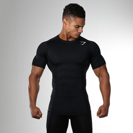 Compression Short Soccer Australia - Quick Dry Compression Men's Short Sleeve T-Shirts Running Shirt Fitness Tight Tennis Soccer Jersey Gym Demix Sportswear