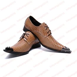 $enCountryForm.capitalKeyWord Australia - British Snake Pattern Formal Men Oxford Shoes Pointed Toe Brogue Shoes Male Wedding Business Derby Shoes Lace Up