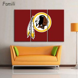 Poster Frame Wholesale Australia - Modern Home Wall Art Decor Painting Frame Canvas HD Printed Posters 3 Panel Ice Hockey Sports Pictures For Living Room