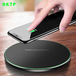 Wholesale BKTP Qi Wireless Charger For iPhone X XR XS Max QC3 W Fast Wireless Charging for Samsung S9 S8 Note S7 USB Charger Pad