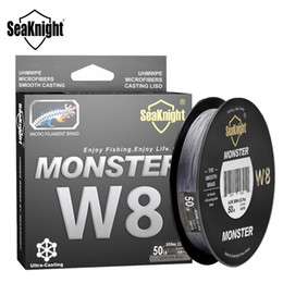 Discount monster braid SeaKnight Monster W8 300M 8 Strands Fishing Line Multifilament Fishing PE Line 8 Weaves Strong Braided Wire 20LB 40LB 80LB 100LB T191016