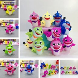 Discount shark figures - New Baby Shark Figures Squeeze Toys 10pcs Set 5-6cm Animal Action Figure Dolls Cartoon kids Baby Shark Toy Christmas Gif