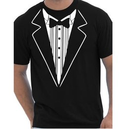 Fancy Long Tops NZ - Tuxedo Fancy Dress Funny Mens T-Shirt More Size and Colors big european size cotton top quality short sleeves