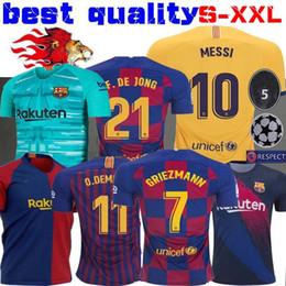 cc144713d1b 19 20 Jersey de Barcelona Messi Camisetas de fútbol SUAREZ MALCOM Maillot  de foot Jersey de Barcelona PIQUE Vidal Dembele DE JONG 2019 2020 GRIEZMANN