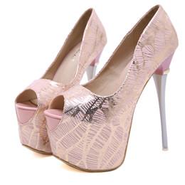 f2116944 16 cm Plataforma de tacón ultra alto peep toe zapatos de boda nupciales  bridesmaid lavender pink shoes talla 35 a 40