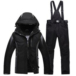 Hooded Women Ski Suit Female Snowboarding Suits Waterproof 10000 Super Warm Ski Jacket + Pants Outdoor Sports on Sale