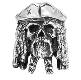 Punk Rings Australia - Free Shipping Mixed 5PCS PUNK gothic Gothic Lolita Skull Style Titanium steel Tisco ring Men Band Jewelry Bikers 07
