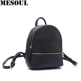1f30f4341082 Mini Women Backpacks Black Genuine Cow Leather Travel Bags Female Small  Backpack Multi-Function Fashion Shoulder Bag Girl Purse