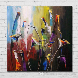 oil painting wine art Australia - A. Top aritist High Quality Handpainted & HD Print Modern Abstract Wine Art Oil Painting On Canvas Wall Art Home Office Deco g145