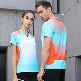 Polo Sportswear Australia - Men Table Tennis Clothes Team Game Short Sleeve POLO T Shirts Running Sportswear Quick Dry Breathable Badminton Shirt