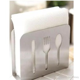 $enCountryForm.capitalKeyWord NZ - 2018 new free shipping stainless steel napkin paper holder Tissue stander 12CM*4CM*9CM Tissue Boxes & Napkins Table Decoration & Accessories