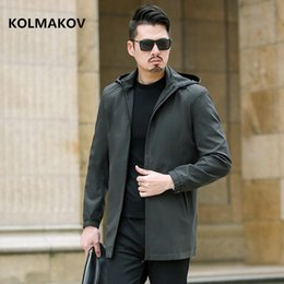6xl trench coat men Australia - 2019 Men's fashion Business trench coat mens casual coats jackets Classic Hooded Overcoat men windbreak size M to 5XL,6XL