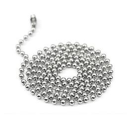 $enCountryForm.capitalKeyWord Australia - 60cm 24inch Metal Alloy Bead Ball Chains for Dog Tag pendants with mirror surface