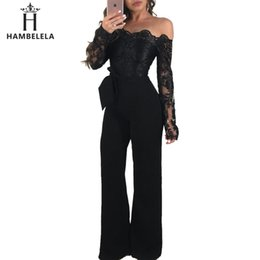 $enCountryForm.capitalKeyWord Australia - Hambelela Sexy Strapless Hollow Out Women Autumn Jumpsuit Elegant Long Sleeve Female Lace Patchwork Rompers Women Overalls Y19060501