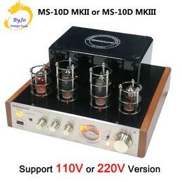 Vente en gros Nobsound MS-10D MKII et MS-10D MKIII Amplificateur à tube Amplificateur audio stéréo haute fidélité 25W * 2 Tube à vide Support AMP Bluetooth USB 110V ou 220V