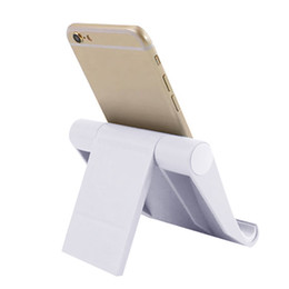 plastic beds wholesale Australia - 2019 rotating foldable plastic mobile holder stand universal bed desk mount mobile phone stand cradle phone holder