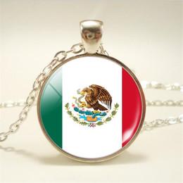 $enCountryForm.capitalKeyWord Australia - Hot New Fashion Time Gem Glass Cabochon Mexico National Flag World Cup Football Fan Choker Necklace Women Men Punk Long Chain Choker Jewelry