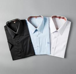 $enCountryForm.capitalKeyWord Australia - Luxury high quality 100% cotton men's shirt short-sleeved men's shirt solid color brand clothing business short-sleeved casual petticoat H
