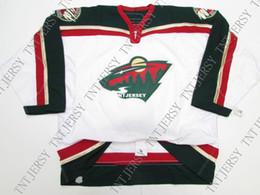 Minnesota Wild Jerseys Australia - Cheap custom MINNESOTA WILD AWAY TEAM ISSUED 6100 HOCKEY JERSEY stitch add any number any name Mens Hockey Jersey XS-5XL
