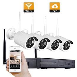 4CH CCTV System Wireless 1080P NVR 4PCS 2.0MP IR Outdoor P2P Wifi IP CCTV Security Camera System Surveillance Kit on Sale