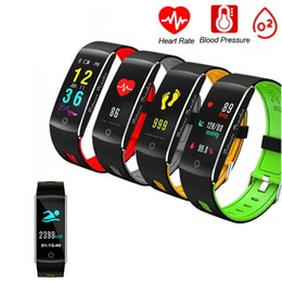 Remote Pressure Australia - HR Smart Bracelet IP67 Waterproof Color Screen Fitness Tracker Sport Remote Control Blood Oxygen Pressure Smart Band for Android iOS