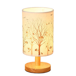 leaf bedding UK - OOVOV Bedroom Bedsides Mini Fabric Desk Lamp,Kid's Room Baby Room Nightlight Small Table Light,H28cm,Maple Leaf,Dandelion,Elk