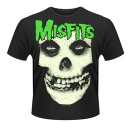 Black Shirt Loose Skull Australia - Cotton Loose Shirts Misfits Glow Jurek Skull Men'S Graphic Short-Sleeve Tees