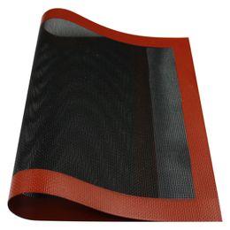 42X29.5 cm orifícios de Ventilação de silicone Baking mat Biscoito Panelas Antiaderente fácil limpar Muffin mat em Promoção
