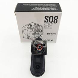 Ingrosso Videocamera portatile portatile di sorveglianza di sicurezza SQ8 HD 1080P Mini DVR digitale Videocamera di rilevazione di movimento Videocamera digitale di visione notturna a infrarossi